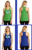 Loggerhead Ladies Gathered Racerback Tank